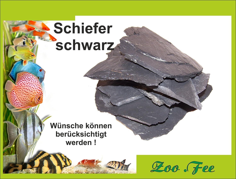 1 kg Schiefer schwarz, Aquarium, Terrassenbau, Dekoration Zoo Fee