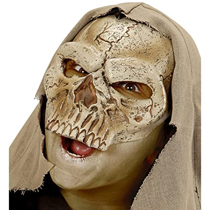 WIDMANN vd-wdm00350 Máscara sin barbilla Señor la muerte, Beige, talla única