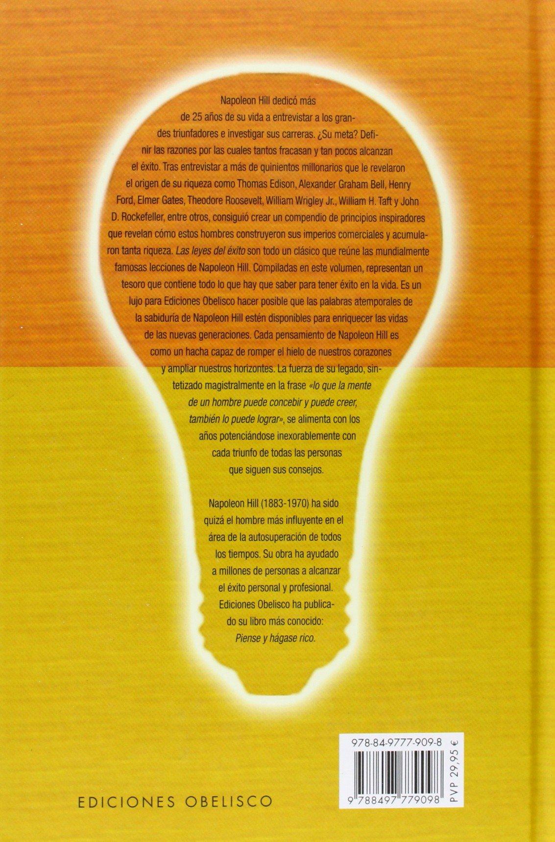Las leyes del éxito (EXITO): Amazon.es: NAPOLEON HILL, Verónica d'Ornellas  Radziwil: Libros