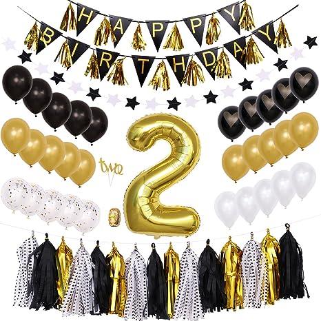 Decoración de cumpleaños para niña, 2º número 2, diseño de ...