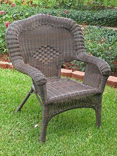 International Caravan 523800-OG-145555-O-783303 Wicker Resin Steel Outdoor Patio Chair