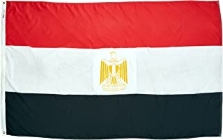 product image for Annin Flagmakers Model 192366 Egypt Flag Nylon SolarGuard NYL-Glo, 5x8 ft, 100% Made in USA to Official United Nations Design Specifications