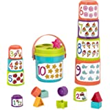 Battat Sort and Stack Learning Toy for Kids (19 pieces)