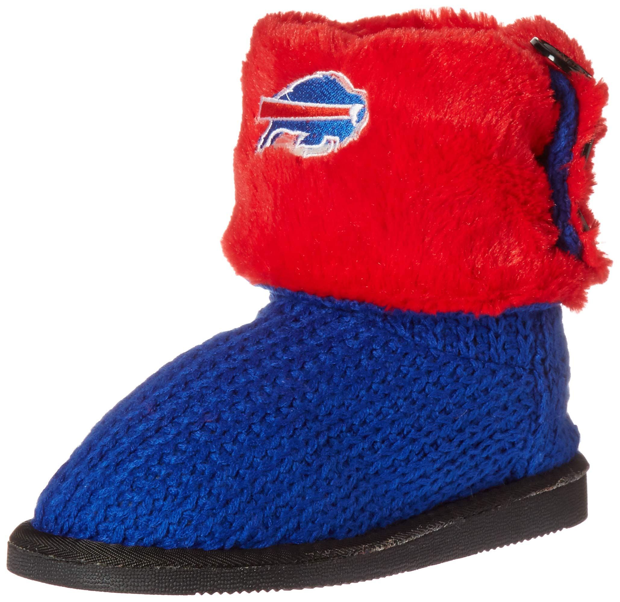 Buffalo Bills Knit Team Color High End Button Boot Slipper Small