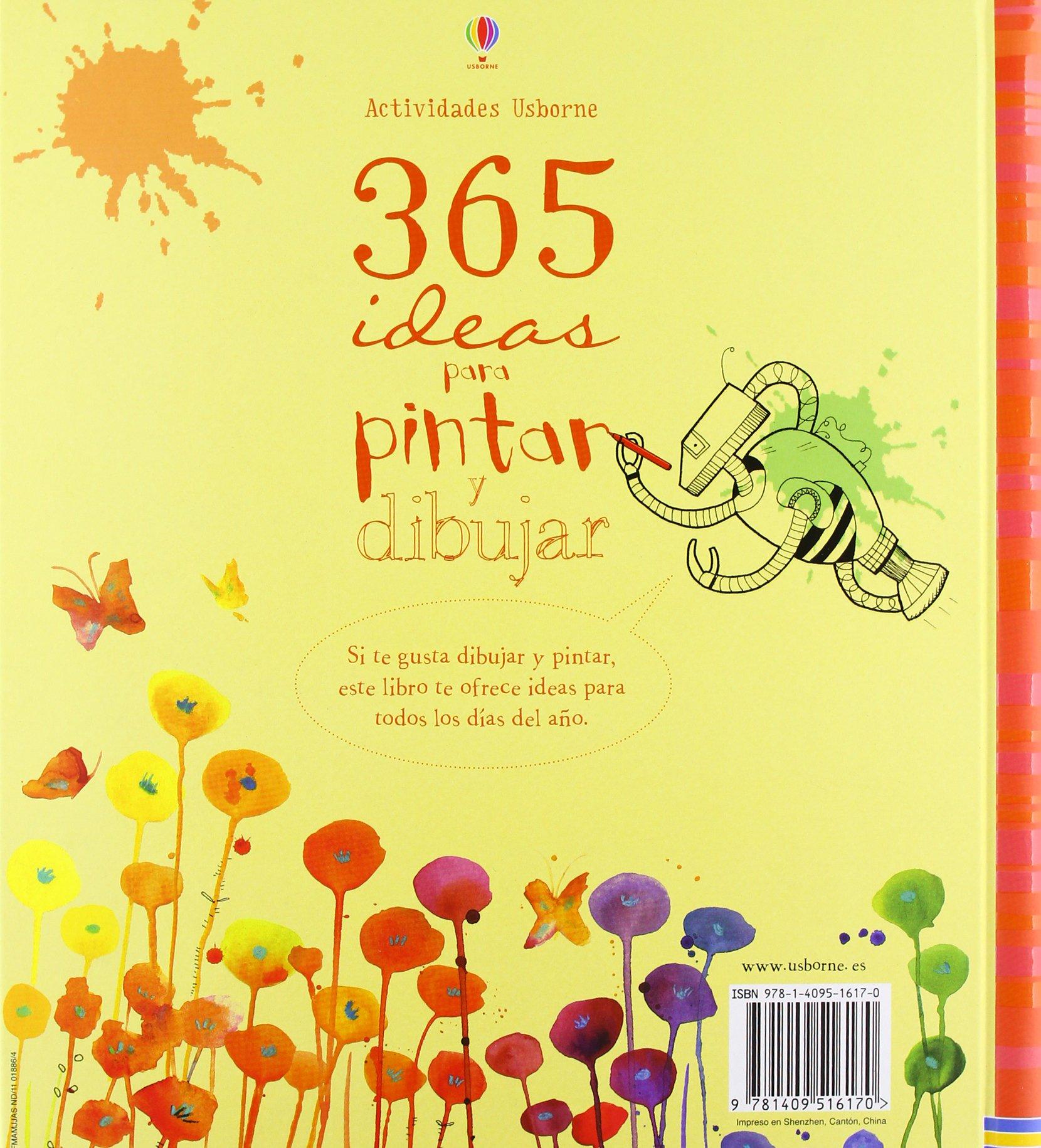 365 ideas para pintar y dibujar Actividades usborne: Amazon.es ...