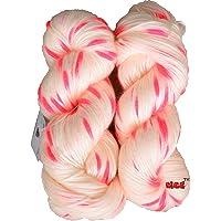 GANGA Flite Joy Knitting Yarn Wool, Cream 200 gm Woolen Crochet Yarn Thread. Best Used with Knitting Needles, Crochet Needles. Vardhman Wool Yarn for Knitting. Best Woolen Thread.