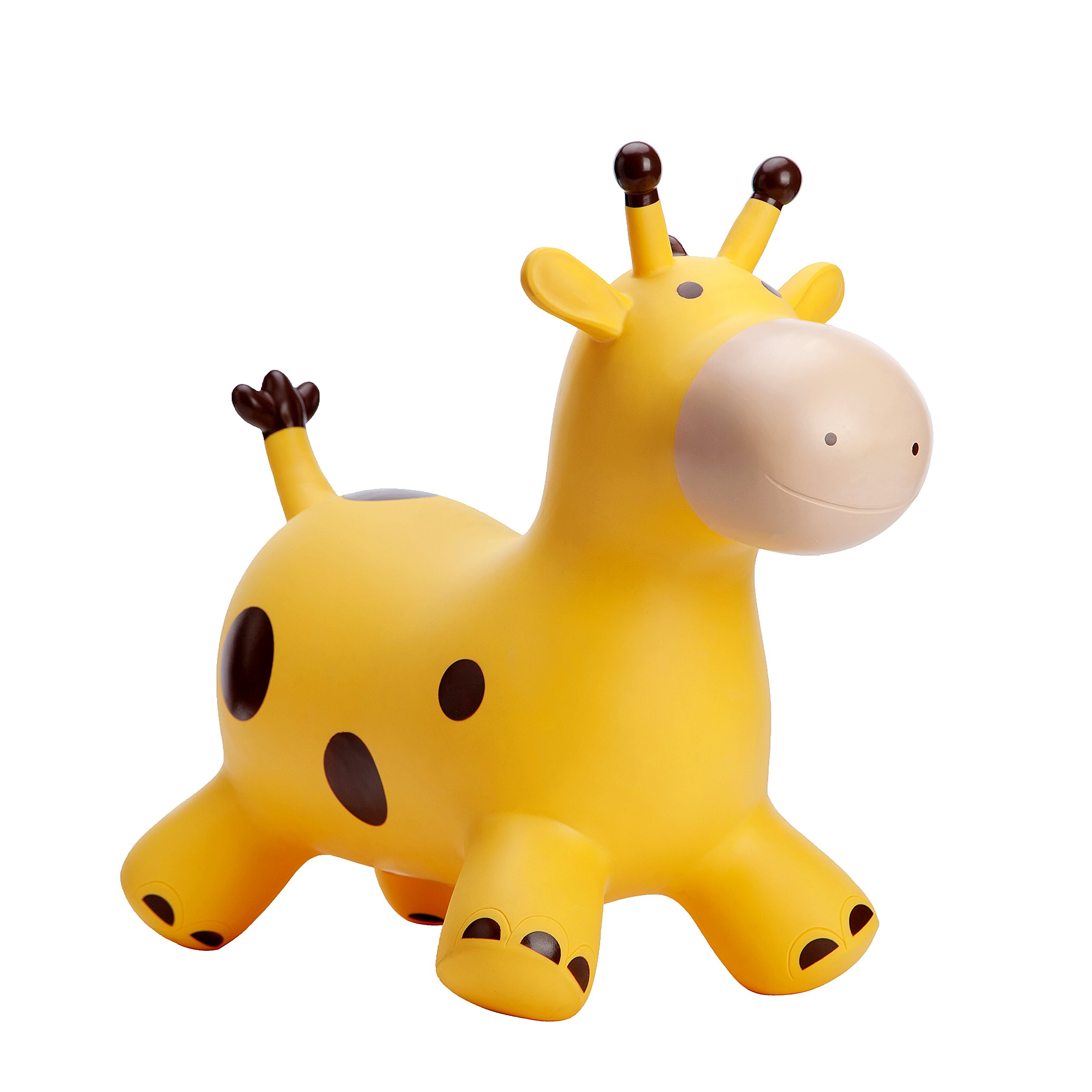 Babe Fairy Jumping Animal,Horse Hopper,Pump Included Jumping Bull Inflatable Hopping Animal Riding Horse for Kids (Yellow Deer)