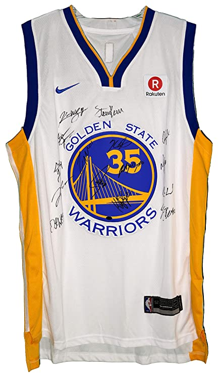 5c1e727add6 ... australia golden state warriors 2017 18 team autographed signed white  jersey durant curry thompson green paas ...