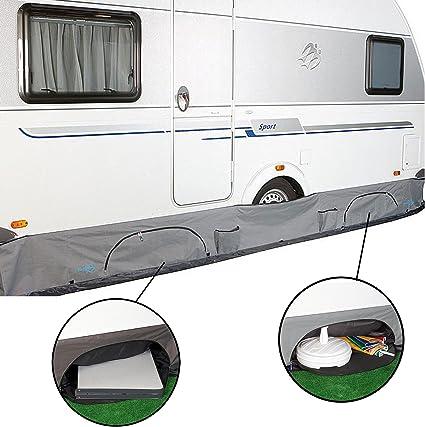 B Wohnwagenschürze Caravan Wohnmobil Radabdeckung Abdeckung Aufbewahrung Vorzelt