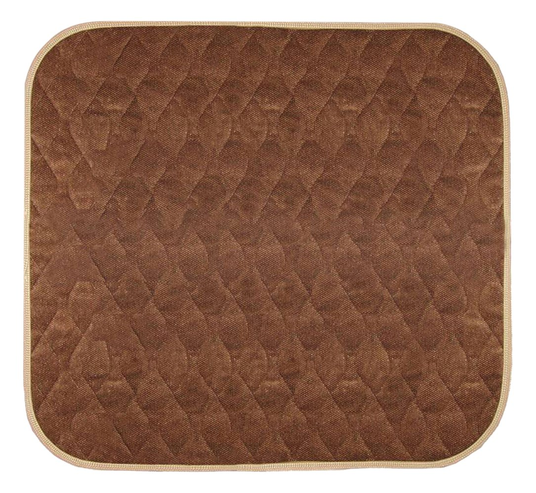 "Americare Absorbent Washable Waterproof Seat Protector Pads 21""x22"" - Brown"