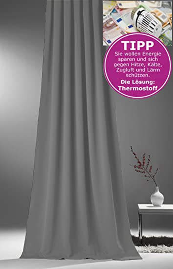 Amazon.de: Gardine Vorhang für Verdunkelung & Thermoeffekt * XXL