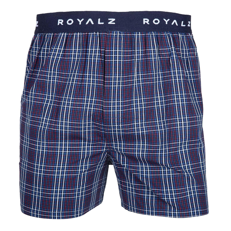 ROYALZ Boxer Uomo Intimo Cotone 100 Pacco da 5 Pantaloni a Quadretti 5 Set Pantaloncini Ragazzi Biancheria Intima di Larghezza