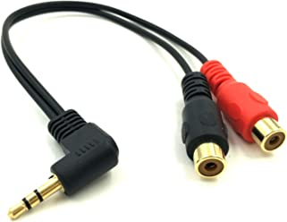 "80cm 3.5mm 1//8/"" Stereo Right Angle Male to Male Plug Audio Extension Cable Cord"