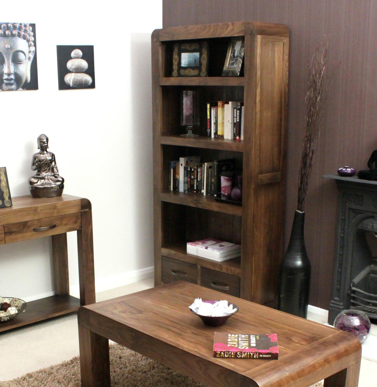 solid walnut hidden home office. Baumhaus Shiro Walnut Large 2 Drawer Bookcase: Amazon.co.uk: Kitchen \u0026 Home Solid Hidden Office