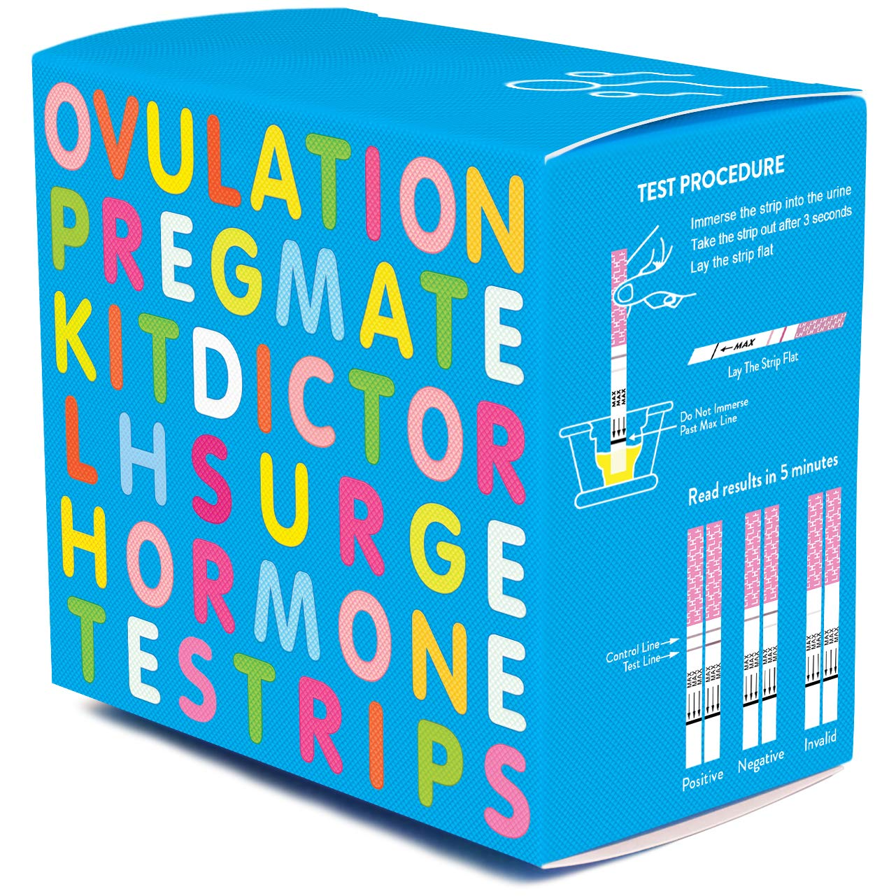 PREGMATE 100 Ovulation Test Strips LH Surge Predictor OPK Kit (100 LH)
