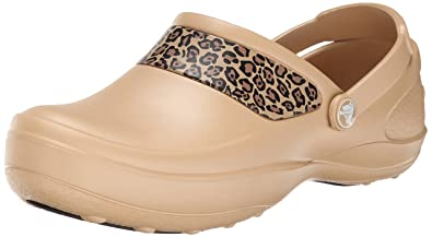 830be13391e4b3 crocs Women s Mercy Work Leopard Graphic Clog Mule