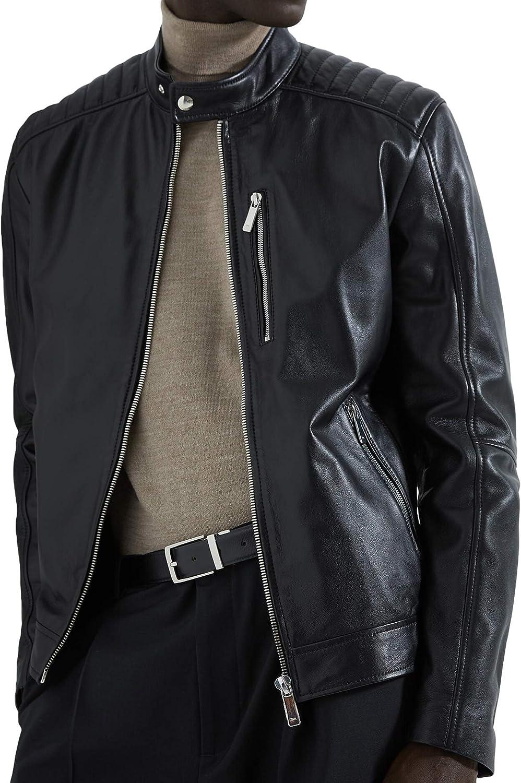 Zara 5479/350/800 - Chaqueta de Motorista para Hombre (Piel) Negro ...