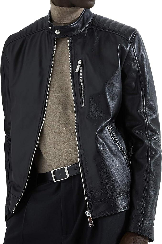 Zara 5479/350/800 - Chaqueta de Motorista para Hombre (Piel ...