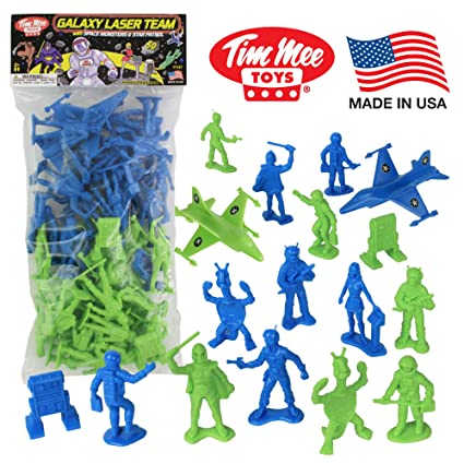 Amazon Com Timmee Galaxy Laser Team Space Figures Blue Vs Green