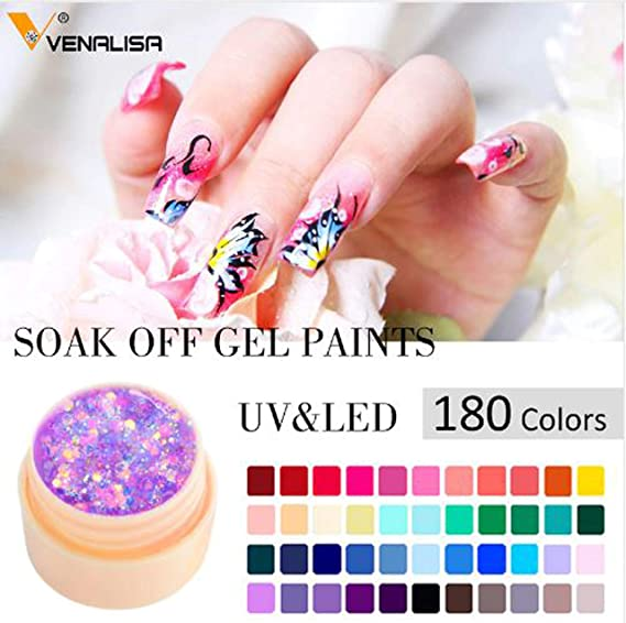 Starry Painting Gel 5 ml CANNI Hot Nail Art Alta Calidad Salon Manicura 180 Color UV LED Línea Dibujo Pintura UV Gel: Amazon.es: Belleza