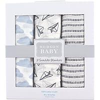 Hudson - Manta de muselina para bebé (3 piezas), Paper Airplanes, Una talla