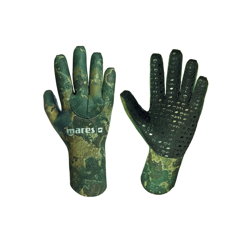 Mares Pure Instinct 3 mmネオプレン迷彩5指手袋 B00ACBZSEA  グリーンカモ(Green Camo) Large