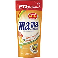 Mama Lemon Dishwashing Liquid Refill, Anti-bacterial, Citrus, 600ml