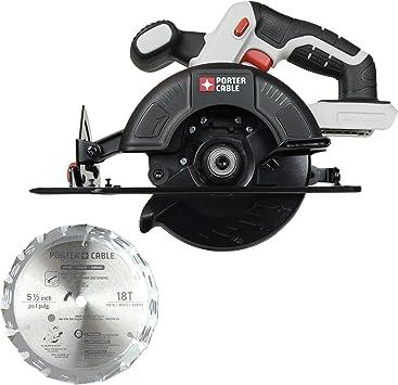 Porter Cable Pcc661b 20v Lithium Bare Tool 5 1 2 Inch Circular Saw Amazon Com