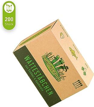 BambusBande - Bastoncillos de bambú y algodón, 200 unidades ...