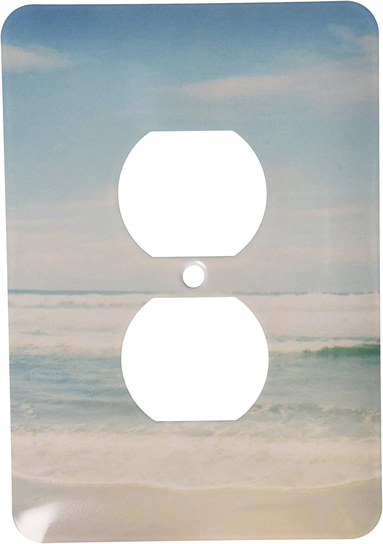 3dRose lsp_164479_6 Gentle Ocean Waves Beach Theme Art 2 Plug Outlet Cover