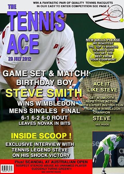 Tarjeta de cumpleaños de tenis para hombre (personalizable parodia ...