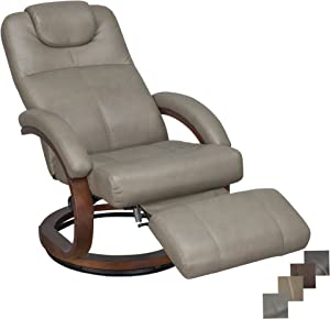 "RecPro Charles 28"" RV Euro Chair Recliner Modern Design RV Furniture (1, Putty)"
