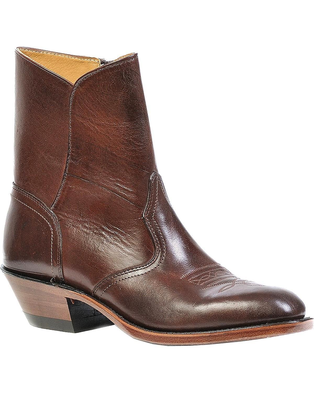 Boulet Men's Western Dress Side Zip Cowboy Boot Round Toe Brown 12 D(M) US