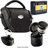 KIT MANTONA VARIO DUO schwarz Kameratasche mit separatem Objektivköcher + PATONA Akku für Samsung BP1030 und Samsung BP1130 mit Infochip (neueste Generation 100% kompatibel!) NX200 NX210 NX300 NX300M NX500 NX1000 NX1100 NX2000