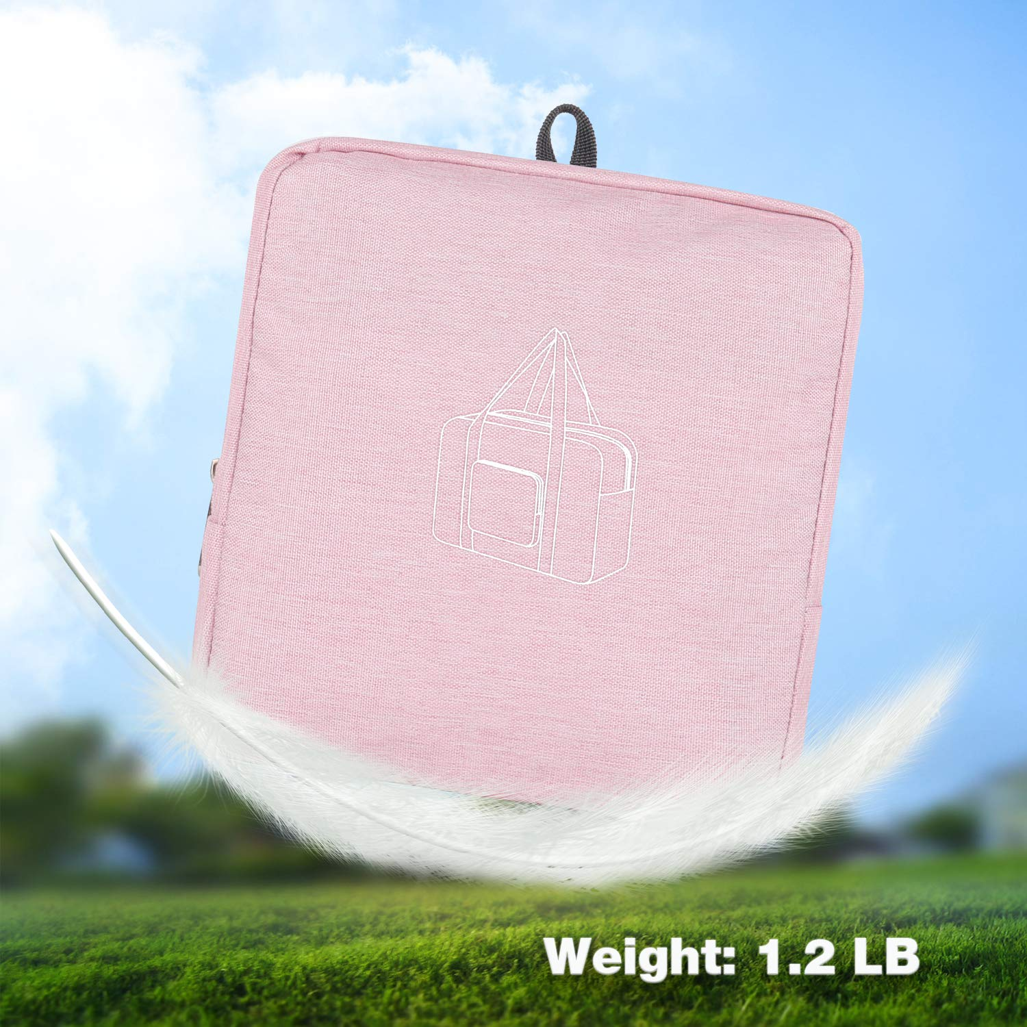 WANDF 16 ~ 36 Foldable Duffle Bag 20L ~ 120L for Travel Gym Sports Packable Lightweight Luggage Duffel Water-resistant