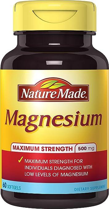 Nature Made Max Strength: Magnesium 500 mg Softgel 60 Ct
