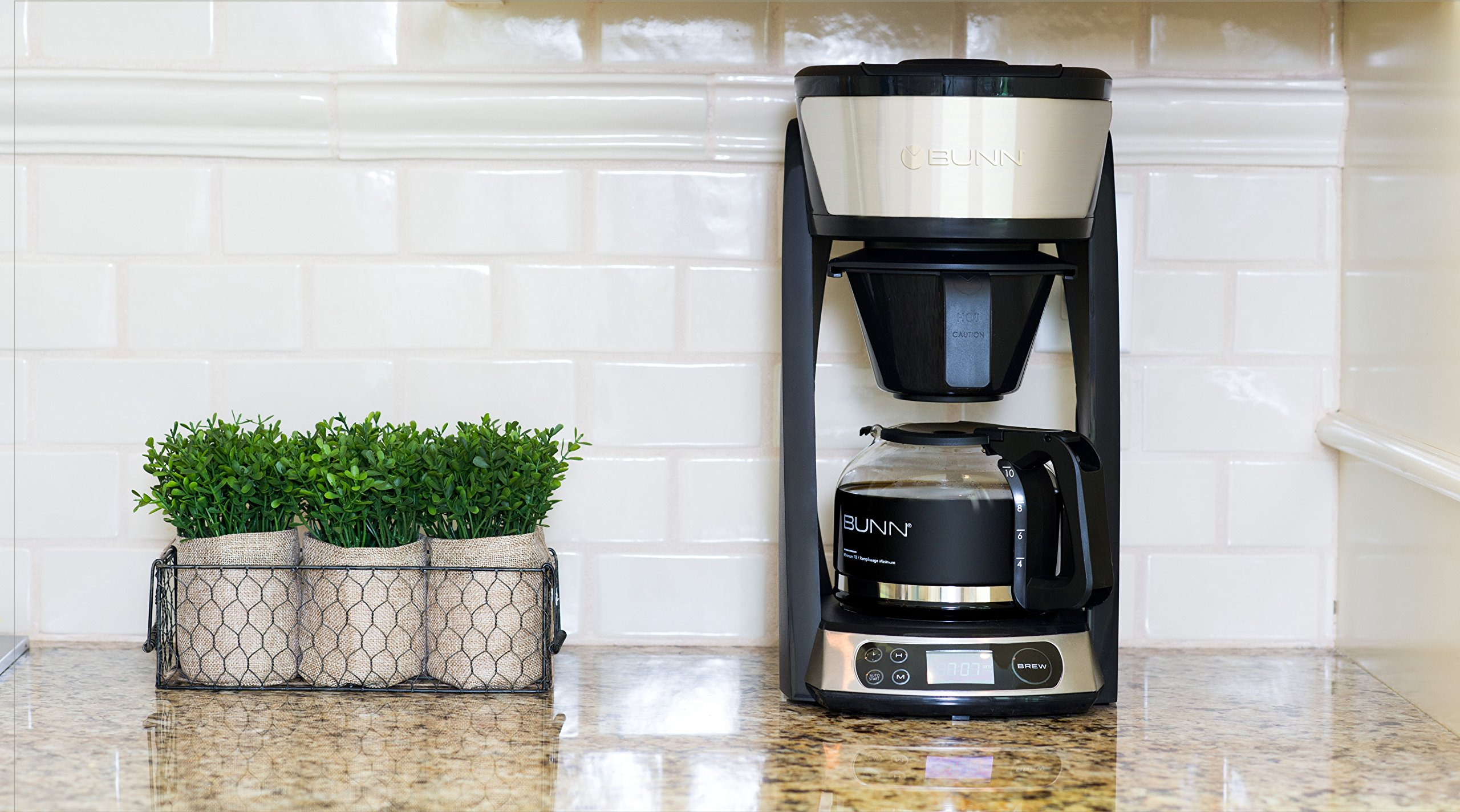 BUNN HB Heat N Brew Programmable Coffee Maker 10 cup Stainless Steel by BUNN (Image #4)