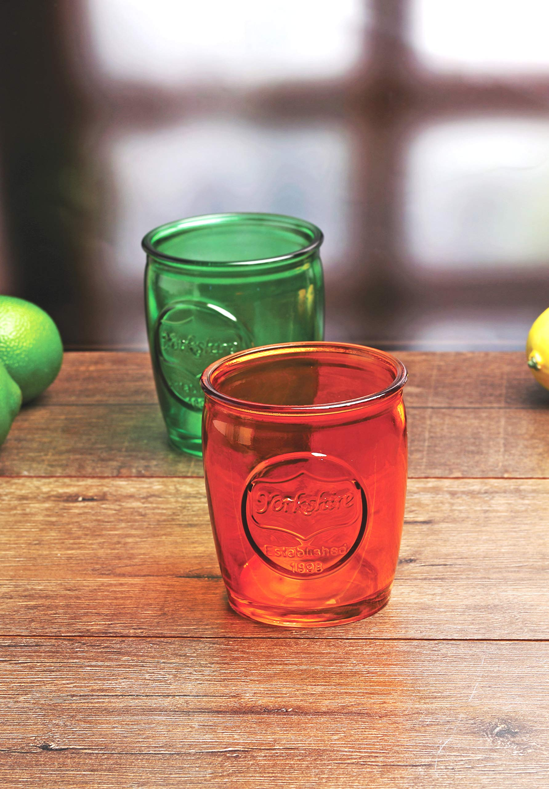 Circleware Yorkshire Heavy Base Whiskey Glasses 4-Piece, Party Entertainment Dining Beverage Drinking Glassware Cups for Water, Liquor, Beer, Ice Tea, Juice and Farmhouse Decor, 13 oz