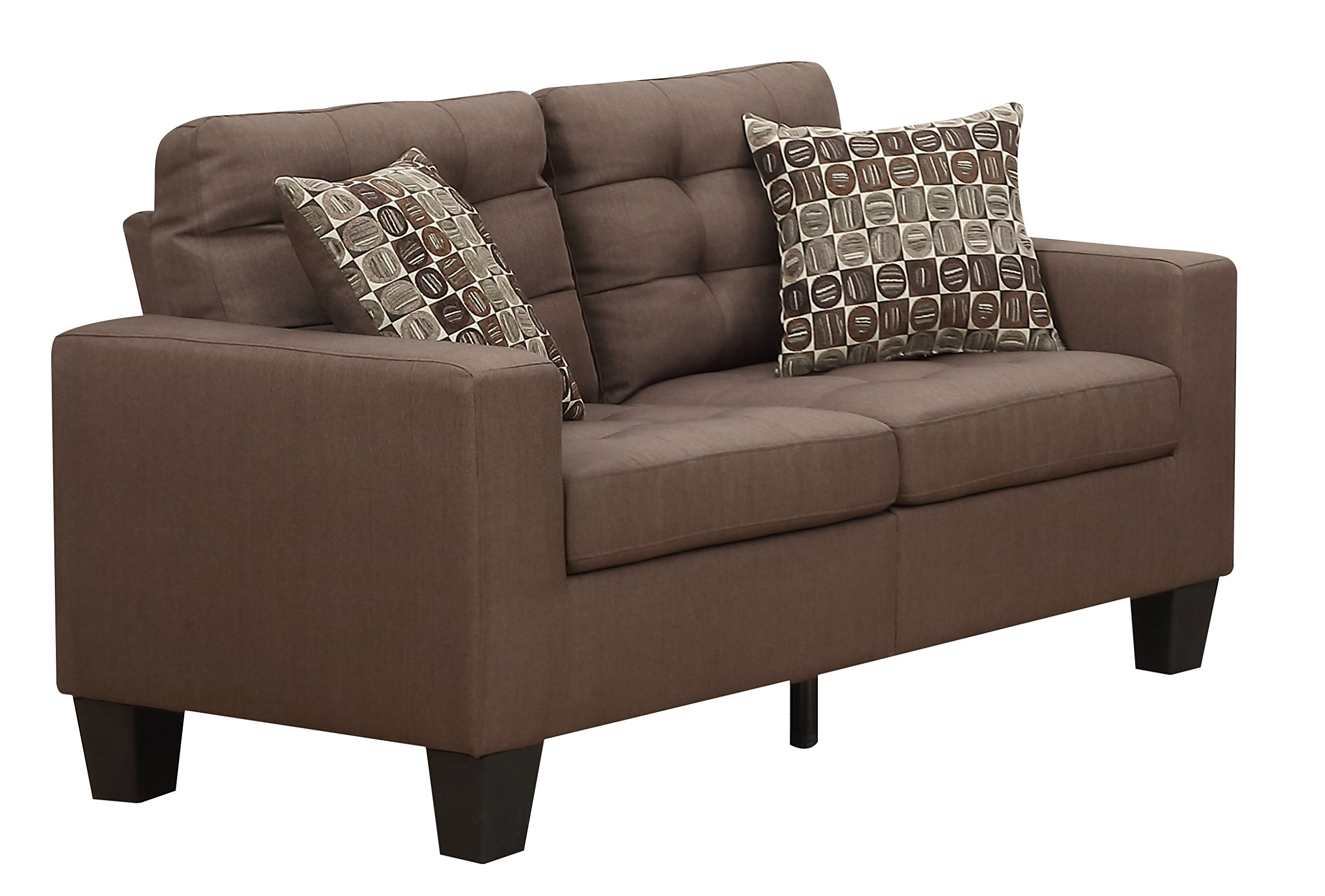 Furniture World Aston Love Seat, Chocolate