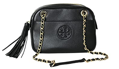 090ba01c9f7 Image Unavailable. Image not available for. Color  Tory Burch Bombe  Crossbody Chain Women s Leather Small Handbag (Black)