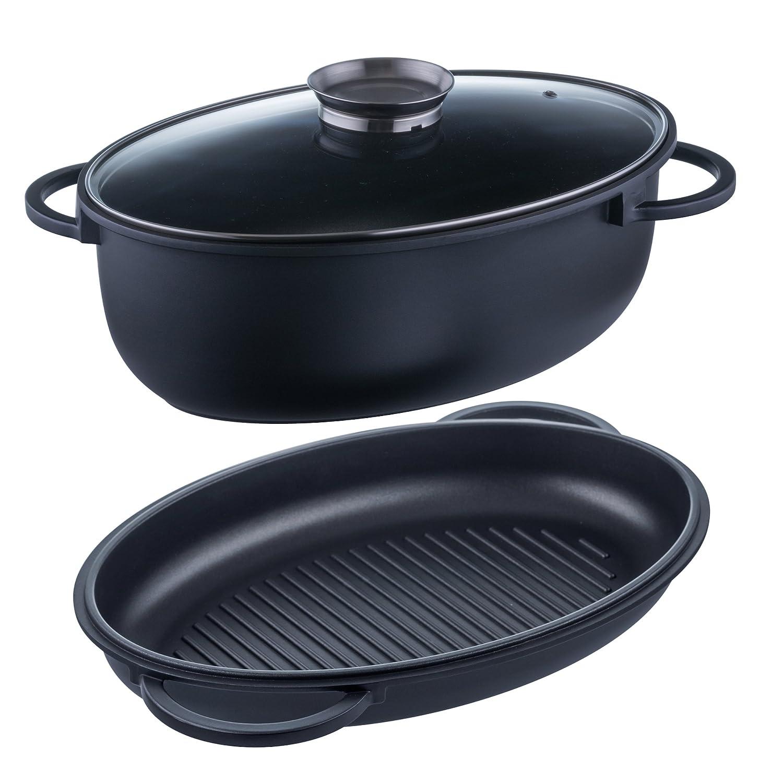 Style n Cook Aluguss Bräter oval Induktion 8 Liter inkl