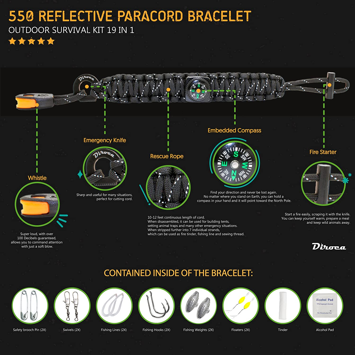 Best Backpacking and Trekking Gear, buy Affordable Paracord bracelet, Best Paracord bracelet