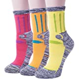 3 Pack Women's Antiskid Wicking Cotton Socks For Outdoors Camping Hiking Sports