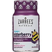 Zarbee's Naturals Children's Elderberry Immune Support* with Vitamin C & Zinc, Natural...