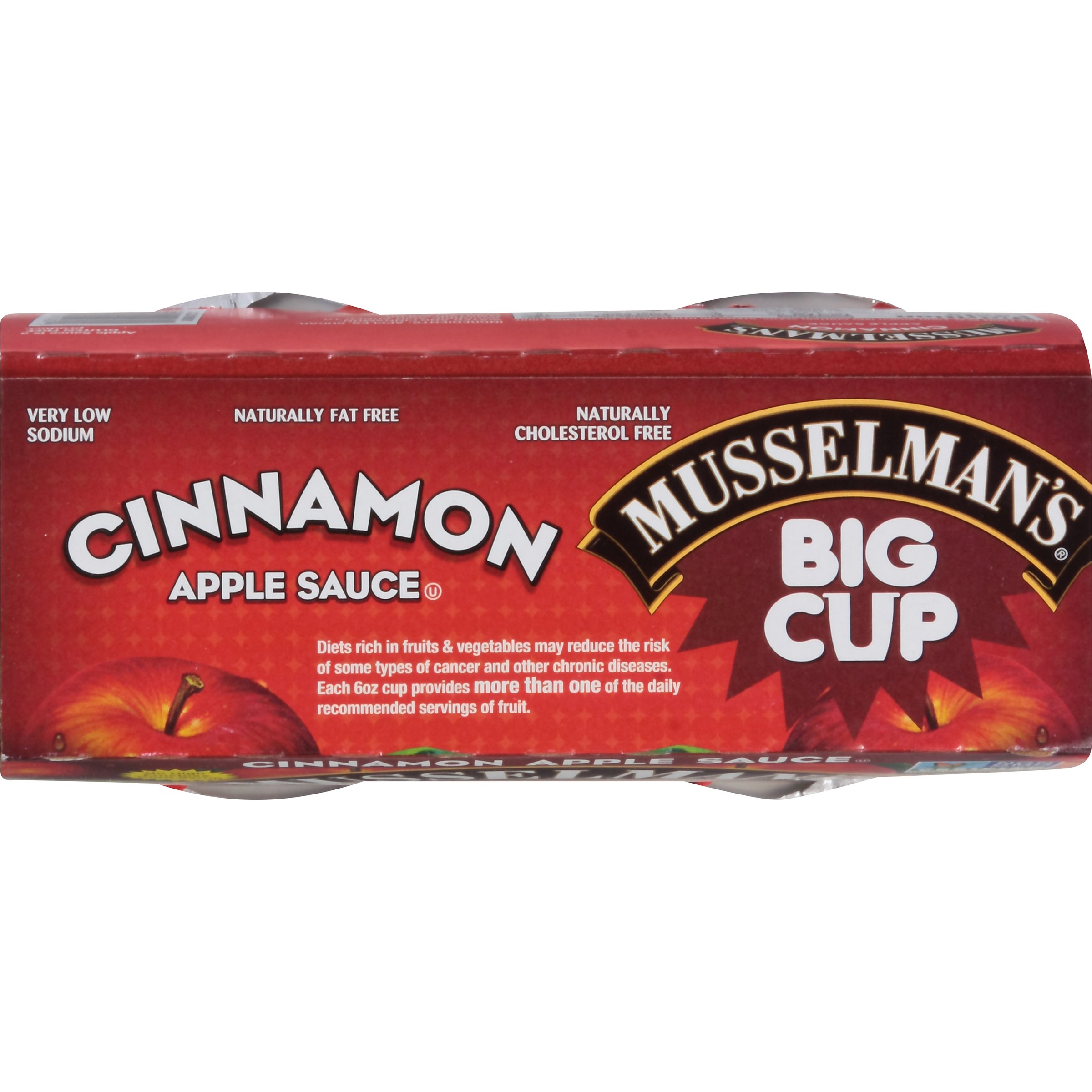 Musselman's Big Cup Cinnamon Apple Sauce, 6 Ounce (Pack of 12)