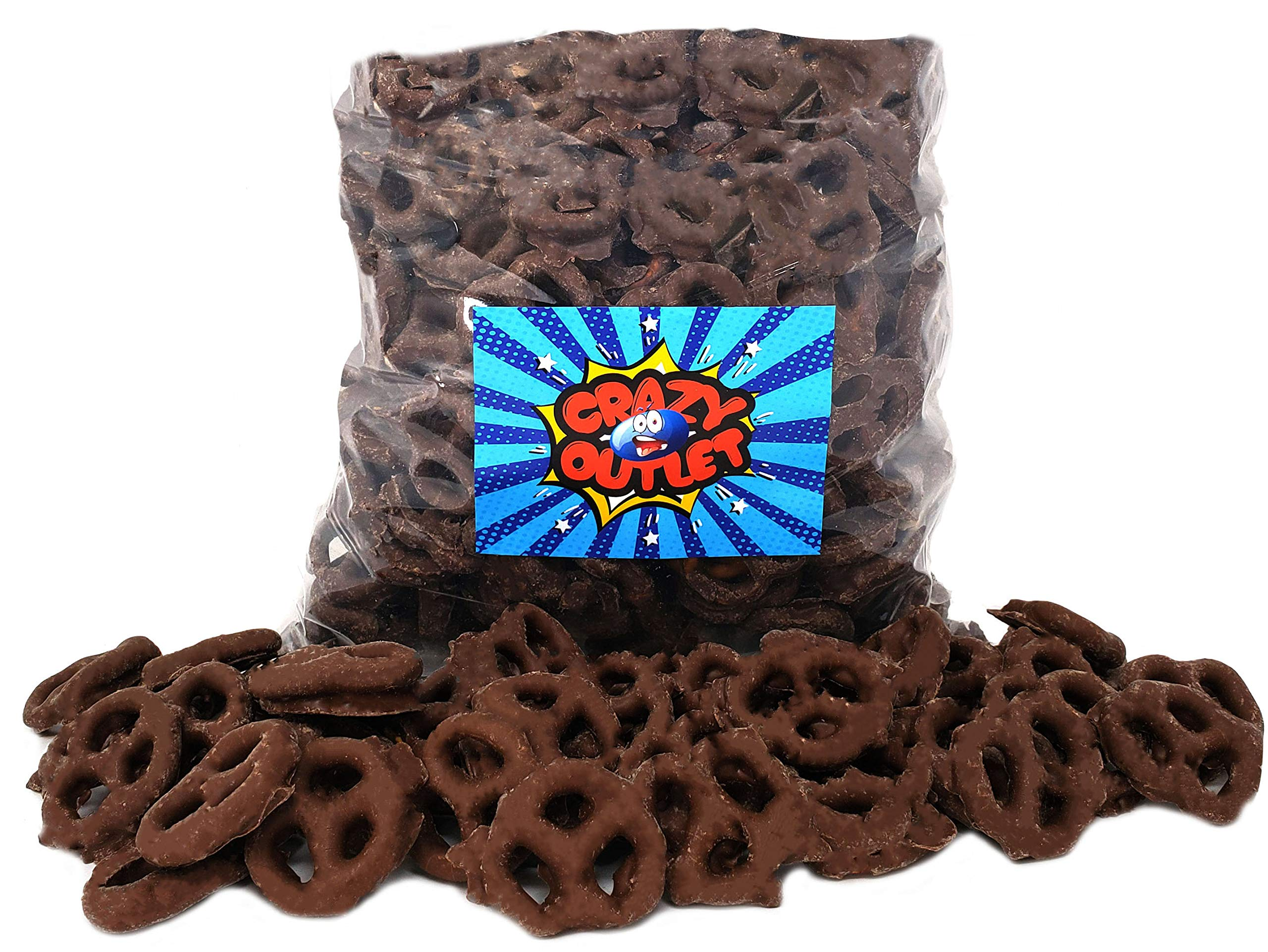 CrazyOutlet Pack - Gourmet Milk Chocolate Covered Mini Pretzels, Salted, Bulk Pack, 5 lbs by CRAZYOUTLET