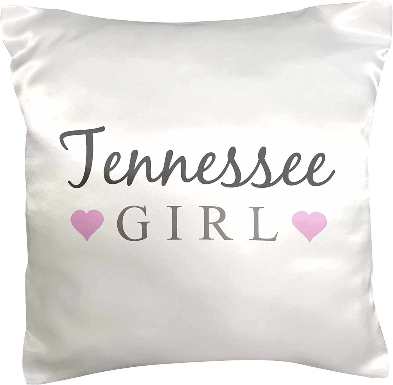 Amazon Com 3drose Pc 161874 1 Tennessee Girl Home State Pride Use United States Of America Text And Cute Girly Pink Hearts Pillow Case 16 X 16 Arts Crafts Sewing