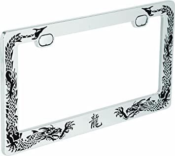 PROTECTED BY DRAGONS dragon License Plate Frame
