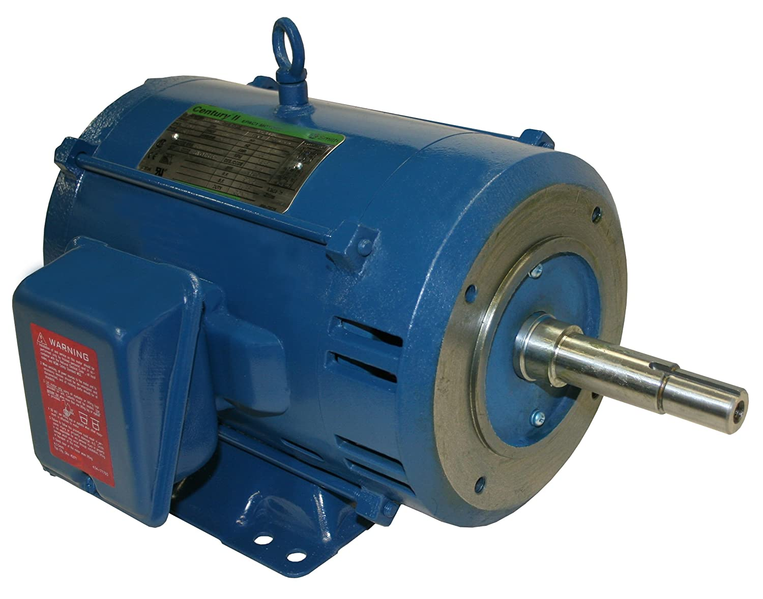 3490 RPM Three Phase 184JM Frame Smith TCP71005 5 HP Ball Bearing Closed Coupled Pump Motor TEFC Enclosure A.O 200-230//460 Volts