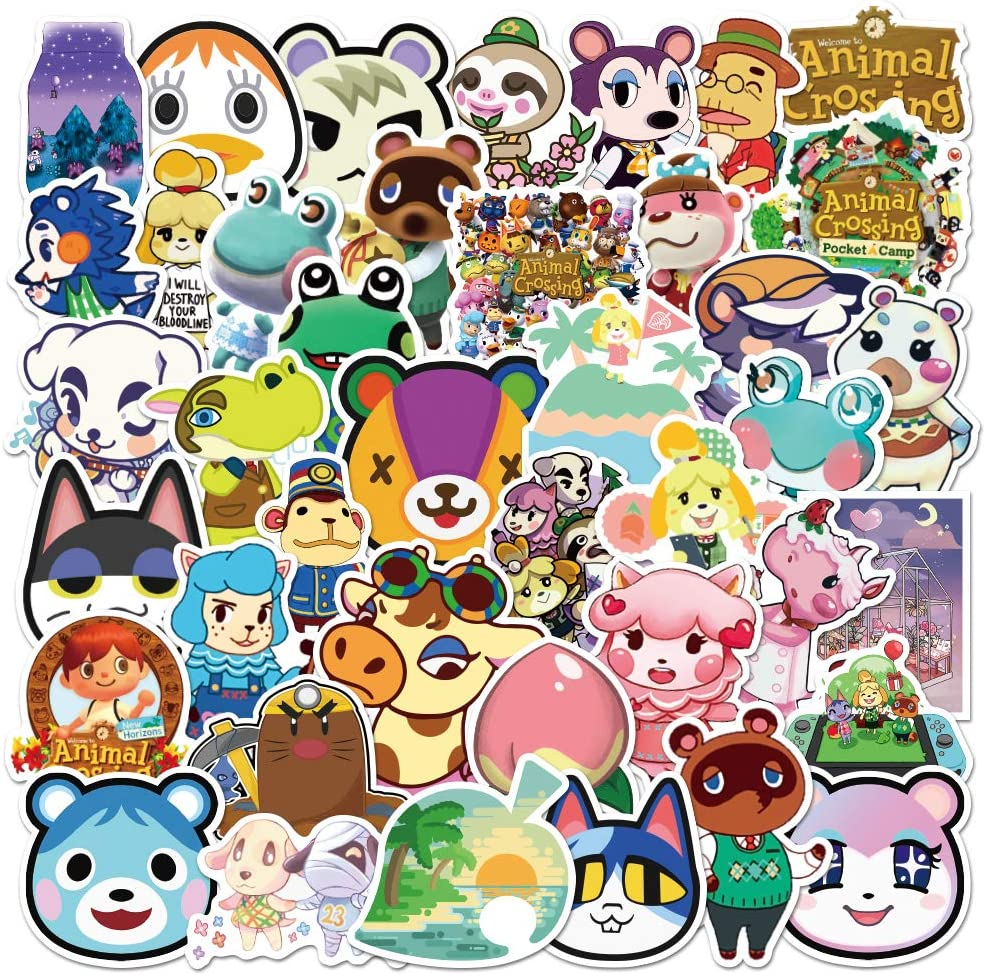 Animal Crossing Stickers 150pcs Popular Game Sticker Vinyl Waterproof Decal Car Sticker for Teens Water Bottle Laptop Motorcycle Bicycle Luggage Decal Graffiti Patch Skateboard